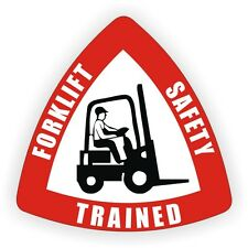 Forklift Safety Trained Hard Hat Decal - Helmet Sticker Fork Lift Tow Motor