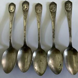 5 Oneida Silverplate Silent Movie Star Spoons Negri Murray Meighan Novapro