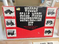 Wooden Scale Model kit Ranch Wagon in Box