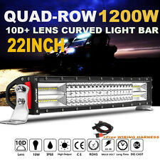 """QUAD ROW Philips 22INCH 1200W CURVED LED LIGHT BAR Combo Frod F250  24""""23""""/ 20"""""""