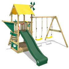 WICKEY Spielturm Kletterturm Smart Pilot Garten Holz Doppelschaukel Sandkasten