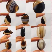 100% Natural Black Banded Botswana Agate Gemstone NG8144-8163,16580-588,3547-52