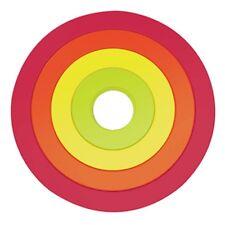 Set 4 dessous de plat circulaires emboitables CIRCLE HOT POP - ZAK DESIGNS