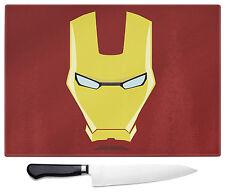 The Avengers Iron Man Grande Vetro Tagliare Tagliere Geeky Giocatore