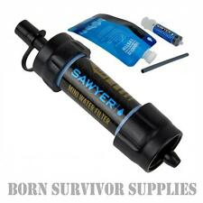 NEW SAWYER MINI WATER FILTER KIT BLACK - Filtration Survival Purification Straw