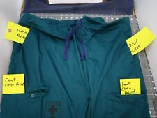 5 Pocket Green Drawstring Unisex Scrub Pants 4XL Walter Reed Bethesda Logo[C3TOP