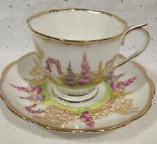 Very Pretty Royal Albert Crown China GREENWAYS Pattern Tea Cup and Saucer