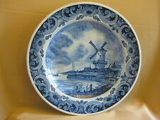 LARGE OLD DELFT PLATE WITH WINDMILL 41 CM