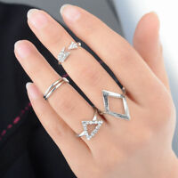 Hot 5pcs Mid Midi Above Knuckle Ring Band Gold Silver Tip Finger Stacking