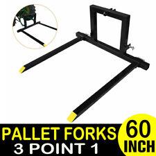 50 1500lbs Bucket 3 Point Pallet Fork Attachment Cat 1 Quick Hitch Logs Fields