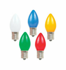 Holiday Bright Lights  C7  Christmas Light Bulbs  Multicolored  1 in. 25 lights