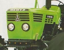 Deutz D5206 Aufkleber Label Sticker Motorhaube
