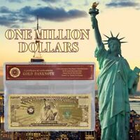 $1 Million Dollar Bill US Gold Banknote Color with certificate of authenticity