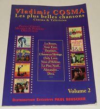 VLADIMIR COSMA Les plus belles chansons CINEMA & TELEVISION Volume 2 - SONGBOOK