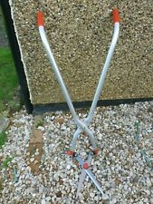 2 IN 1 LONG HANDLED GRASS AND HEDGE SHEARS