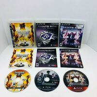 Saints Row 2 The Third 3 4 Sony PlayStation 3 PS3 Video Game Complete Lot Bundle