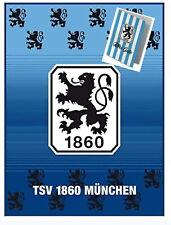 1860 München Decke 150x200 cm Fleecedecke Lions mit Glückwunschkarte ALLES GUTE