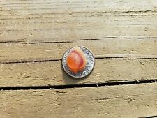 Sea Glass. 1 mini Yellow/Orange pc. Surf-tumbled & frosted. Genuine. JQ.