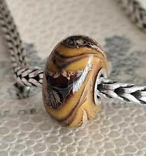 Genuine artisan murano bead on 925 sterling silver fits Trollbeads bracelet