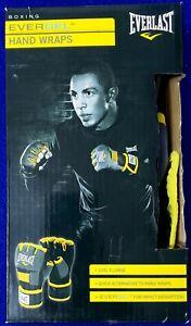 Everlast Evergel Hand Wraps Boxing XL Extra Large Gray Black Yellow