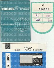 Advertising - Philips RL160 Goal - Radio con 8 Transistor -Manualetto e Garanzia