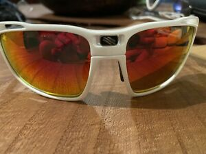 Rudy Project Sintryx Sunglasses in white with Multilaser orange lenses