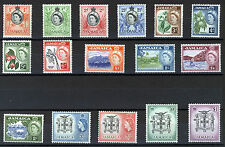 JAMAICA 1956 DEFINITIVES SG159/174 MNH