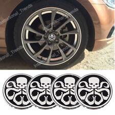 4Pcs 56.5mm Silver Hydra Octopus Car Auto Wheel Center Hub Cap Emblems Stickers