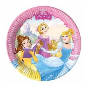 Disney Princess 20cm Plates - Pack of 8