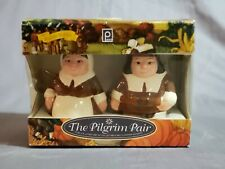 Publix The Pilgrim Pair Thanksgiving Salt & Pepper Shakers- New In Box