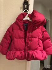 Polo Jacket girl Kids Size (12 months) Ralph Lauren Coat Puffer Fuchsia