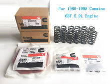 60# Upgraded Set 12 High RPM Valve Springs Gaskets For Cummins 6BT 5.9 12V 89-98