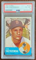 "1963 Topps Carl ""YAZ"" Yastrzemski #115 PSA 6 EX-MNT Boston Red Sox LOOK!"