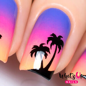 Palm Stencils for sunset nails, nail art, nail vinyls
