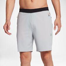 """Hurley Alpha Trainer Plus Threat Mens 18.5""""  Board Shorts Wolf Grey Size XL Swim"""