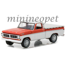 GREENLIGHT 29957 1971 FORD F-100 PICK UP TRUCK with BED COVER 1/64 RED / WHITE