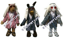 "MINISTRY 28"" FULL BODY CAMEL DONKEY LAMB DESERT NOMAD SET VENTRILOQUIST PUPPETS"