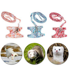 Small Pet Animal Ferret Harness Leash Chest Strap Vest Lead Rope Soft Breathable