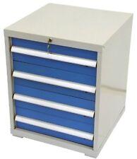 Werkzeugschrank Werkstattschrank Stahlschrank mit 4 blauen Schubladen