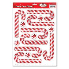 Beistle PEPPERMINT CANDY CANE CLINGS Christmas Craft Window Mirror Sticker Decal