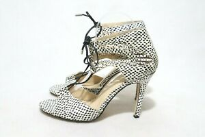 Sportsgirl Size 9 Womens Leather Open Toe Lace Up + Aglet Tips Heels #Exclusive