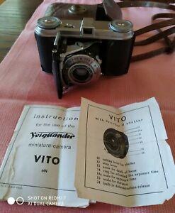 VTG 1950's VOIGTLANDER VITO Mod.3 Miniature-Camera Prontor II Shutter NOT TESTED