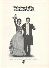 Carol Burnett Placido Domingo 1984 Ad- Discovers CBS