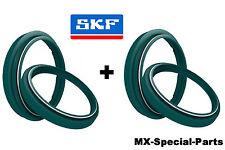 2x SKF Gabel Dichtringe + Staubkappen WP 43 mm # KTM SX 85 SX85