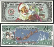 Traditional Santa Color Million Dollar Bill Collectible Funny Money Novelty Note