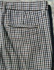 "BEN SHERMAN Men""s Beige Brown Checkered Dress Casual Pants Sz 36 X 27 (True)"