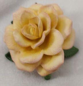 1993 Lenox Compassion Spirit of America Rose Garen Porcelain Flower -C7