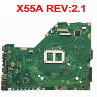 For Asus X55A Laptop Motherboard X55A REV:2.1 Mainboard  HM70 60-NBHMB1100-E07
