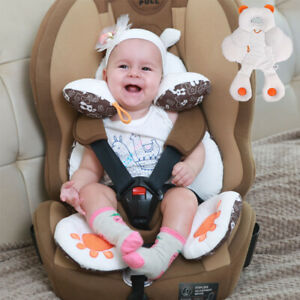 Baby Body Cushion Head Neck Support 2in 1 Car Seat Cushion Travel Seat Liner Mat