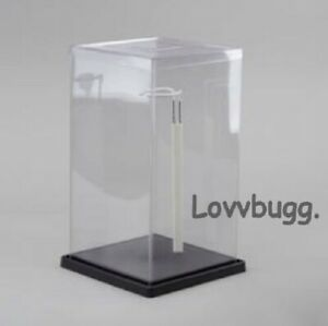 """Acrylic Display Case for Doll /Collectibles(12.5"""" X 7"""" X 7"""" )Free Stand 🐞"""